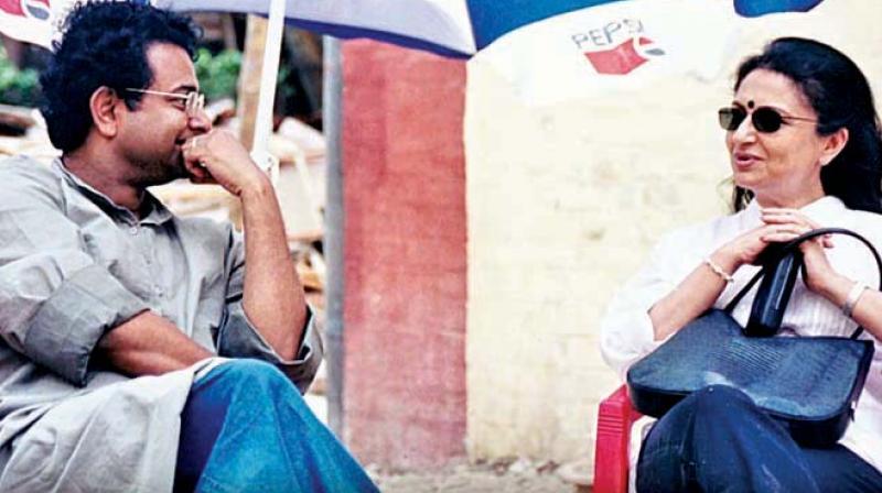 Rituparno and Sharmila Tagore