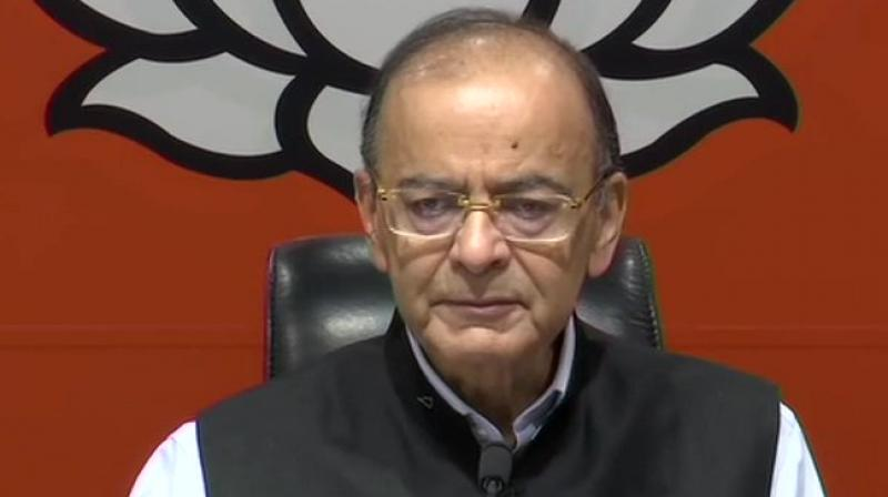 Finance Minister Arun Jaitley on Saturday hit out at the grand alliance stating that it is 'Rent a Cause' campaign which has no leader, no gathbandhan, no common minimum programme, and no real issue. (Photo: File)
