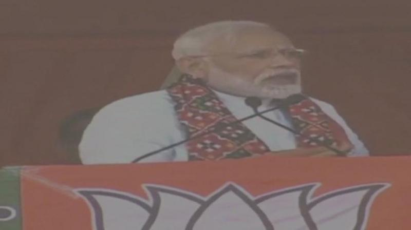 Prime Minister Narendra Modi Friday said the citizens in the country were moving forward sans any fear as the 'chowkidar' has been 'alert.' (Image: ANI)