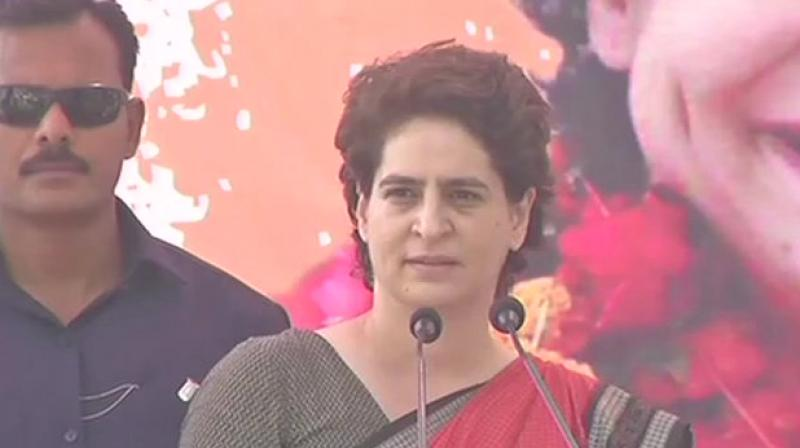 Priyanka remarked that the BJP was making only