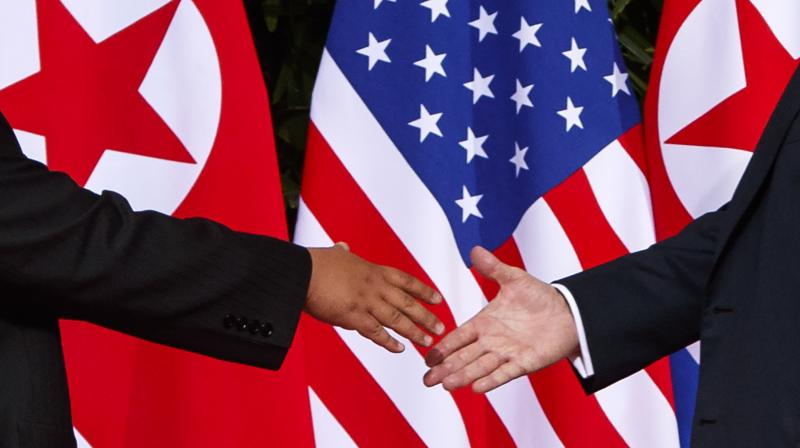 'The leaders of the US and North Korea will have a handshake for peace standing at Panmunjom, the symbol of division,' South's President Moon Jae-in said. (Photo: File)