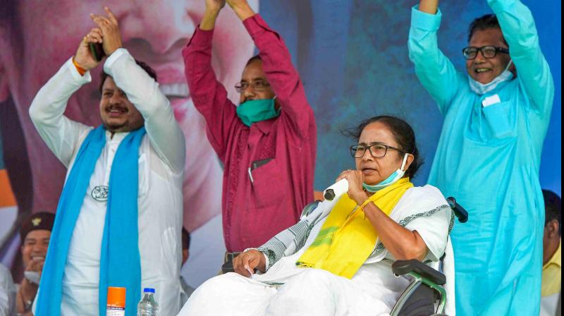 When Didi needs funds, she doesn't waste a moment on these fine people — she goes straight to those who have the requisite lolly — the Marwaris of Kolkata. (PTI)