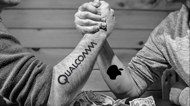 The dispute between Apple and Qualcomm over patents is part of a wide-ranging legal war between the two companies.