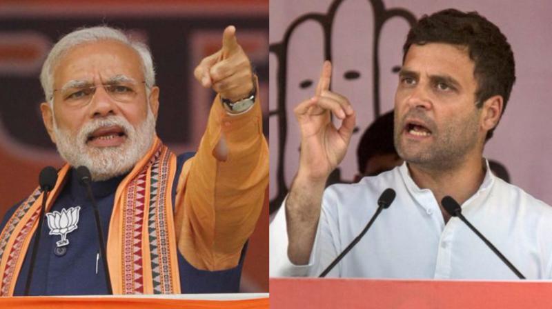 Prime Minister Narendra Modi and Congress Vice-President Rahul Gandhi (Photo: PTI)