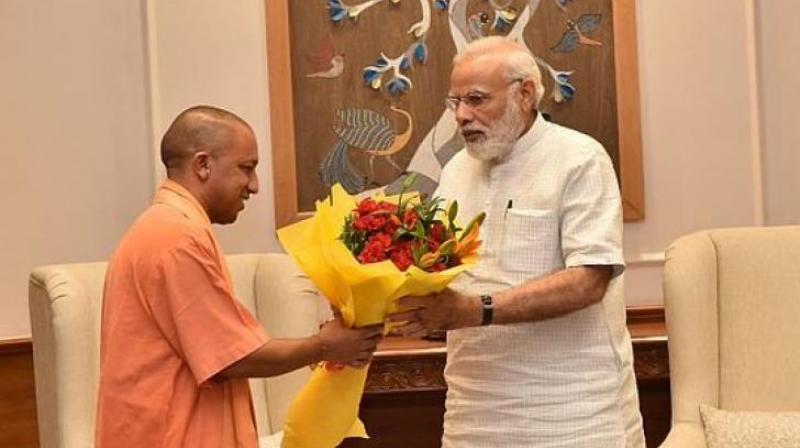 Prime Minister Narendra Modi took to Twitter to congratulate Uttar Pradesh Chief Minister Yogi Adityanath and thank the people of the state. (Photo: @Narendramodi_PM/Twitter)