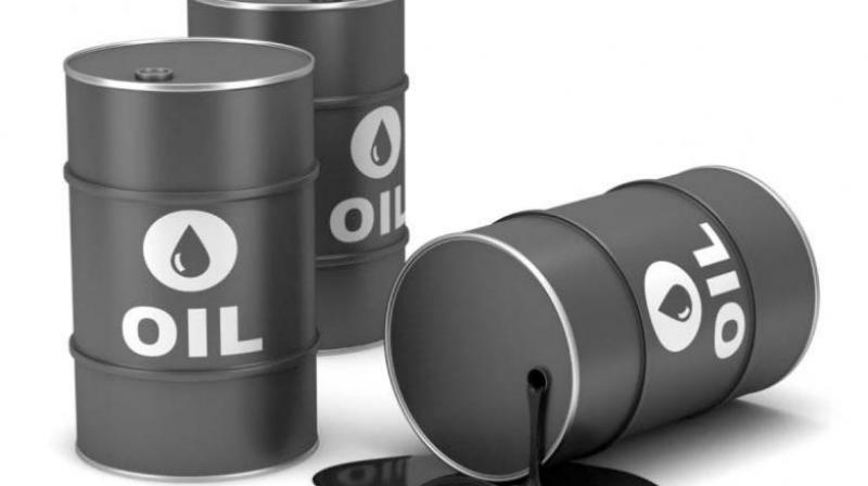 On the Multi Commodity Exchange, crude oil for delivery in December fell by Rs 18, or 0.43 per cent, to Rs 4,188 per barrel.