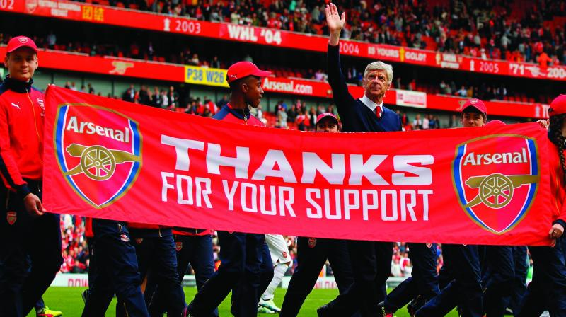 It is a pity that you are leaving without winning the league at our shining new home, the Emirates Stadium.