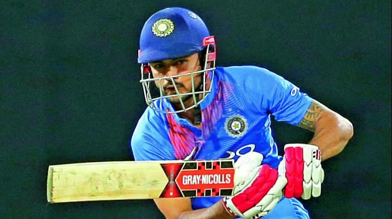 Manish Pandey scored an unbeaten 42 to anchor India's chase against Sri Lanka on Monday. (Photo: AP)