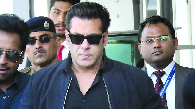 Salman Khan snapped at the airport.