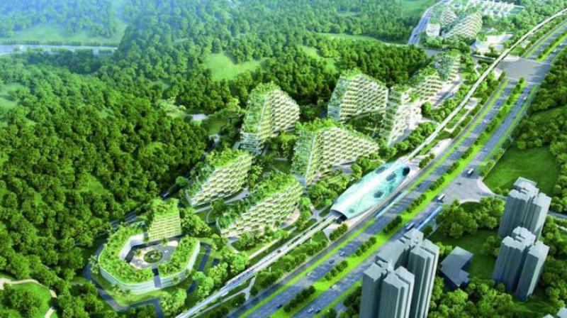 China plans more Forest Cities which will have rooftop gardens.