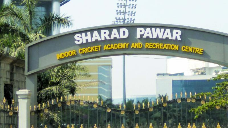 Mumbai Cricket Association has named its Ground leased by MMRDA at BKC as Sharad Pawar Indoor Cricket Academy.