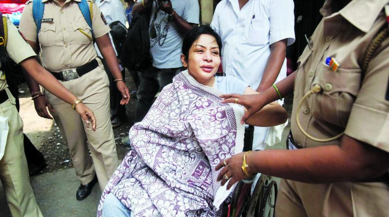 Indrani Mukerjea after being discharged from JJ Hospital. (Photo: PT/FileI
