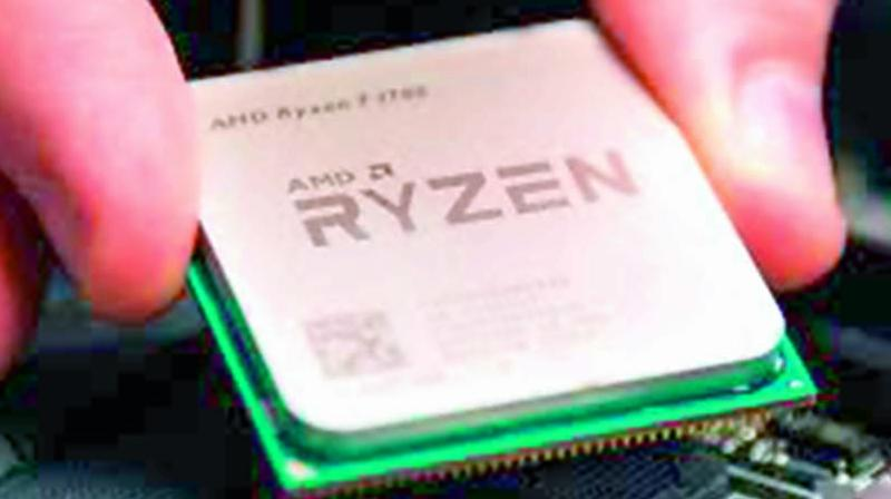 The Ryzen CPU chips will be launched in the middle of this year and will compete with Intel's PC processors.