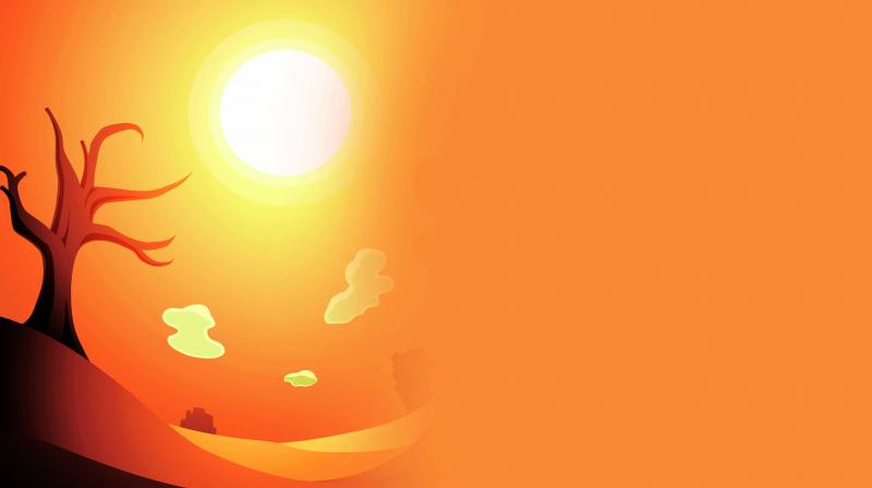 The meteorological department issued a heat-wave warning for some parts of Maharashtra.