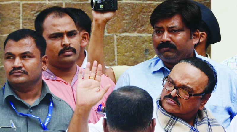Chhagan Bhujbal after he got bail.