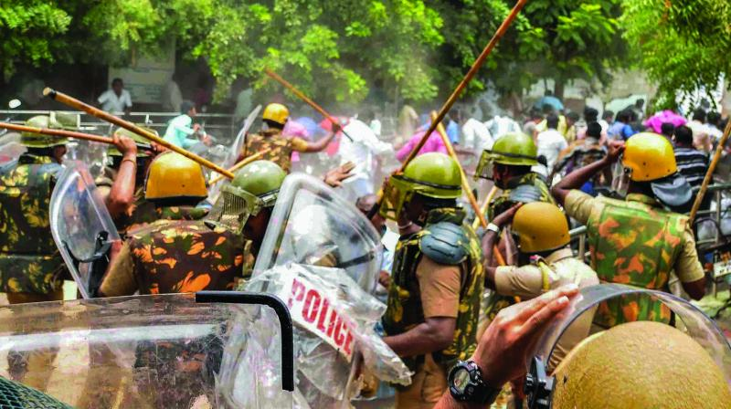 The protests have been going on for over three months, but violence first erupted on Tuesday with agitators fighting pitched battles with police, prompting it to open fire. (Photo: File)