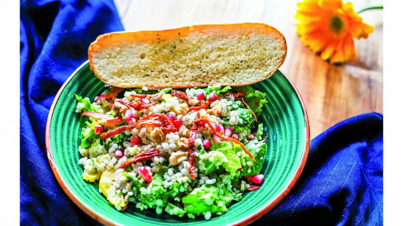 COUSCOUS AND PEARL BARLEY SALAD
