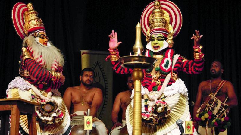 Margi Madhu and Nepathya Srihari Chakiyar. (Anish Mishra)
