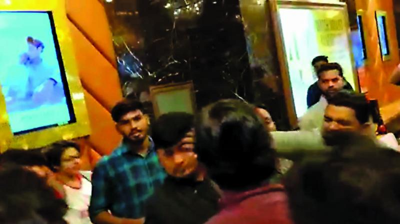 MNS party workers assaulted the multiplex manager