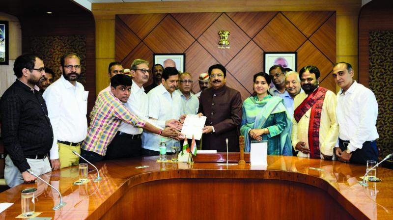 MLA Lodha meets Governor C. Vidyasagar Rao