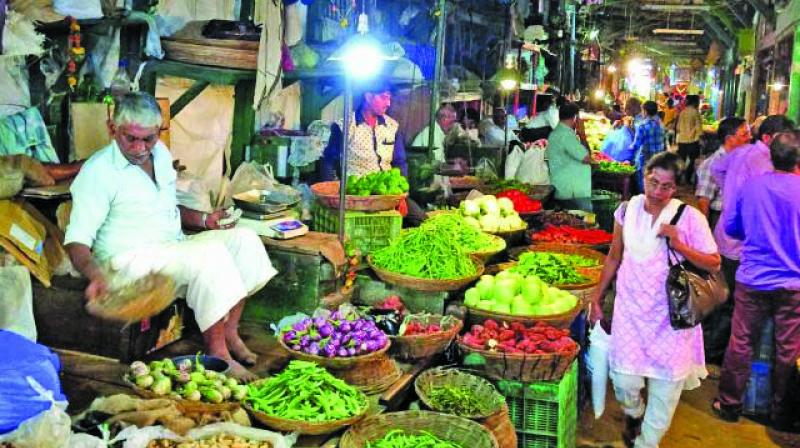 The common man is bearing the brunt of the increased wholesale prices of vegetables in India.