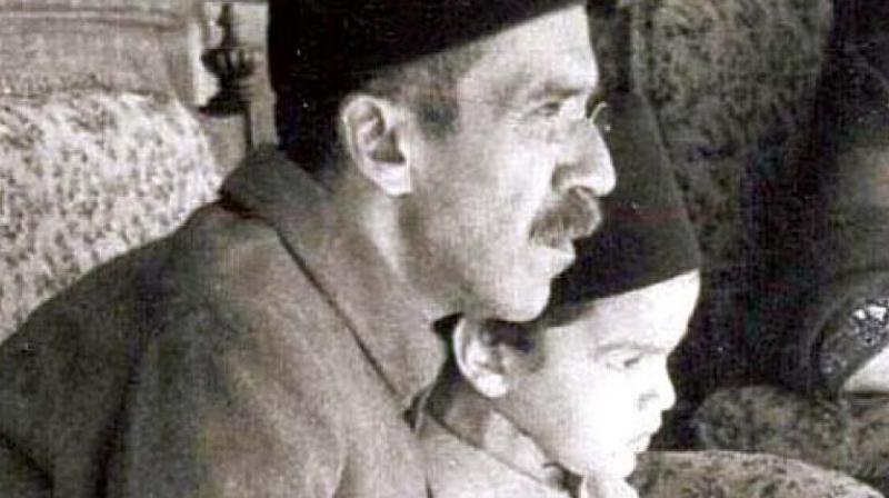 A file picture of Nizam VII Osman Ali Khan with grandson Prince Mukkaram Jah.