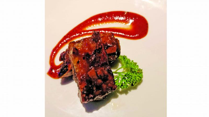 BBQ pork spare ribs St louis style