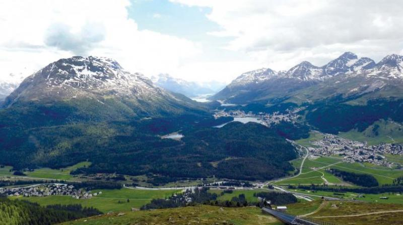 The views from Muottas Muragl.