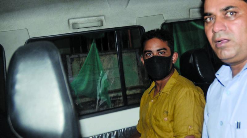 Mekhail Bora leaves the sessions court on Tuesday. (Photo: Shripad Naik)