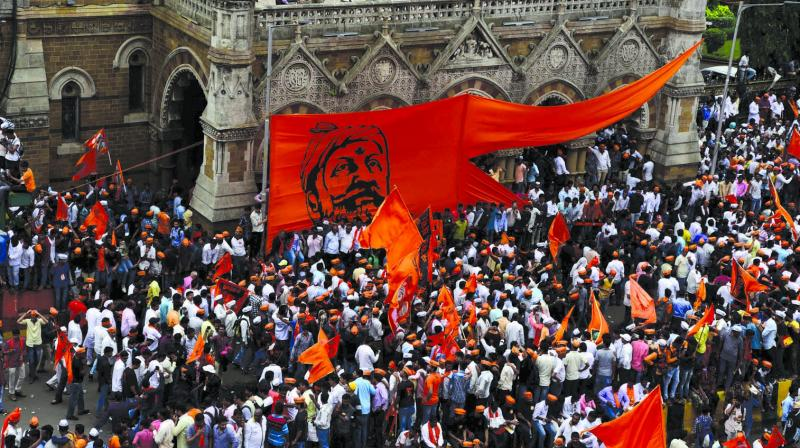 File picture of protest by Maratha Kranti Morcha