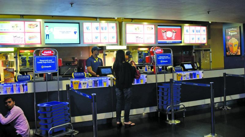File picture of food court inside Cinepolis in Thane.