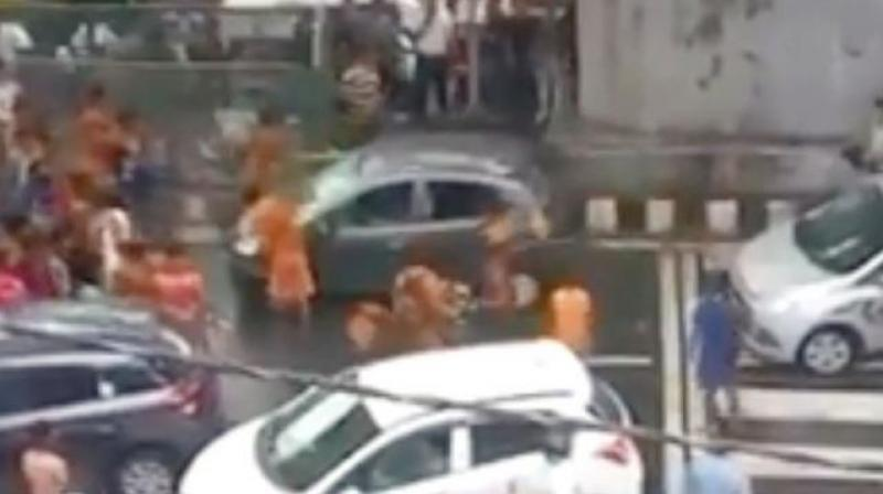 On Wednesday, a group of Kanwariyas, armed with iron rods and sticks, smashed a car in Delhi's South Moti Nagar area. (Photo: File)