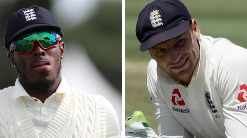 England said Jofra Archer was ready to fire in the second Test against New Zealand despite suffering racist abuse, but a new injury concern has emerged over wicketkeeper Jos Buttler. (Photo:AP/AFP)