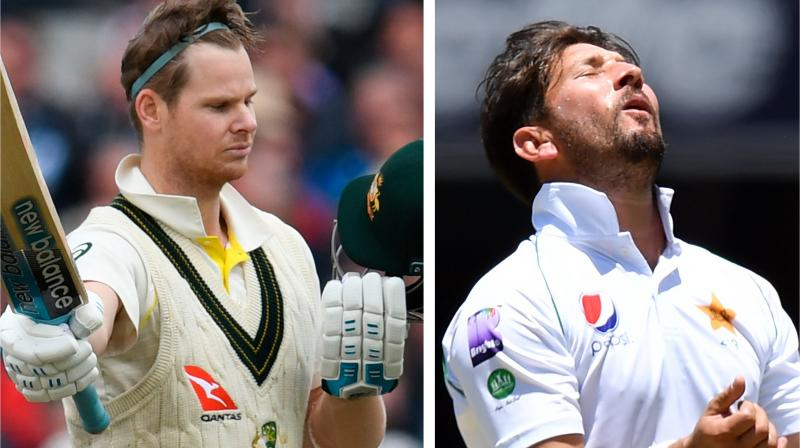 Master batsman Steve Smith is consulting experts on how to get a better night's sleep before cricket matches, but will be fully alert when facing his Brisbane nemesis Yasir Shah in the second test in Adelaide, according to Australia captain Tim Paine. (Photo:AFP)