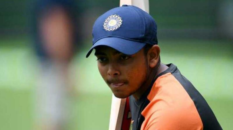 India's opening batsman Shikhar Dhawan uploaded a photo on his Instagram account. The photo displayed Prithvi Shaw training with Shikhar Dhawan and Umesh Yadav. (Photo:AFP)