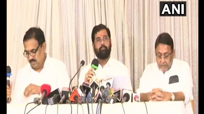 Eknath Shinde, Shiv Sena at the press conference of 'Maha Vikas Aghadi' here said, 'In Maharashtra, farmers are facing problems. This government will do best for farmers. This will be a strong government.' (Photo: File)