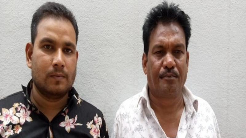 Two people identified as Shaik Imran and Shaik Imam were arrested while another prime accused, Lucky, a native of Gujarat, is still absconding. (Photo: ANI)