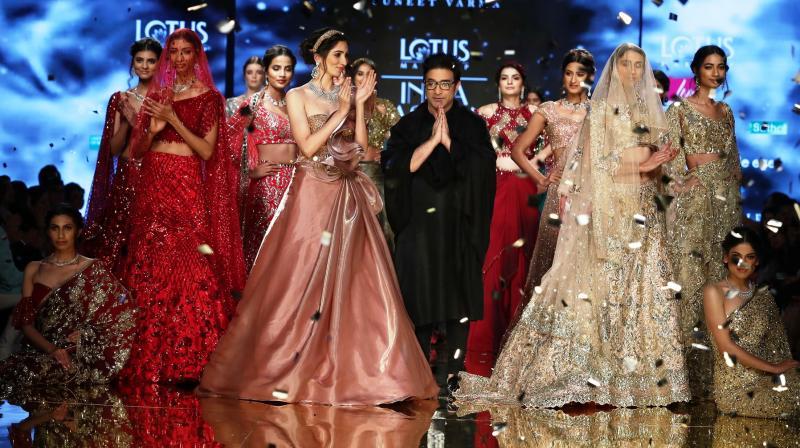 Designer Suneet Verma showcased his signature glitz and glam collection. (Photo: FDCI)