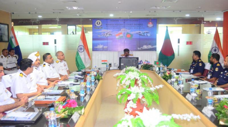 The BCG sought ICG's help during the regional commanders-level meeting at ICG North East (NE) regional headquarters in New Town, Kolkata on Monday. (Photo: Deccan Chronicle)