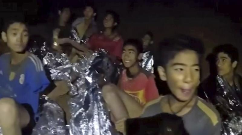 The Thai footballers, aged from 11 to 16, had been stuck deep underground after setting off to explore the cave with their 25-year-old coach after training on June 23. (Photo: File/AP)