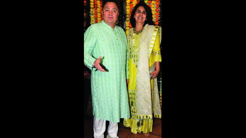 Rishi Kapoor with his wife Neetu Singh