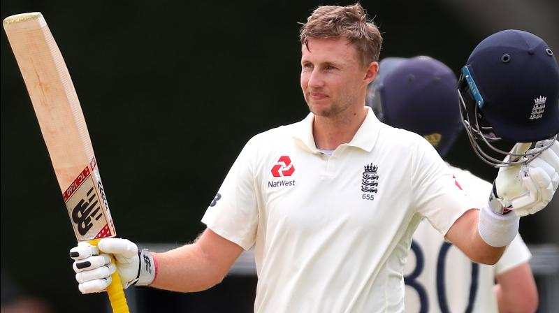 Captain Joe Root scored an unbeaten half century as England's tourists got in some batting practice and scored more than 300 runs on the opening day of their two-day warm-up match against a Cricket South Africa Invitation XI in Benoni on Tuesday. (Photo:AFP)