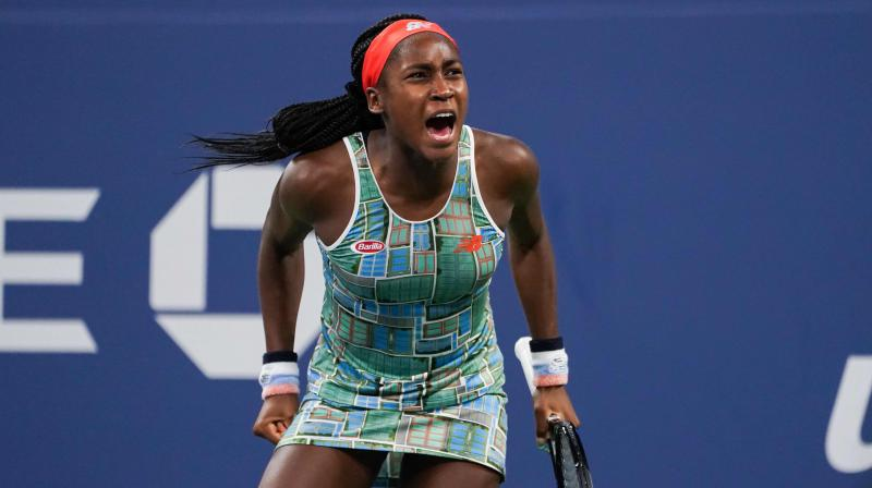 15-year-old American phenom Coco Gauff was forced to dig deep to become the youngest player since Anna Kournikova in 1996 to reach the third round of the women's singles at Flushing Meadows. (Photo:AFP)