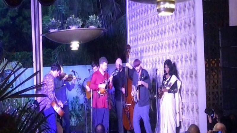 Bluegrass Journeymen performing at the US Embassy in New Delhi