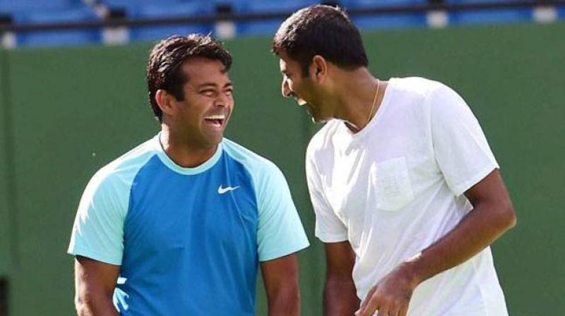Leander Paes and Rohan Bopanna (PTI)