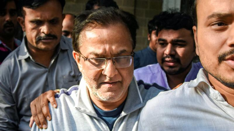 Yes Bank founder Rana Kapoor being taken to a court after being arrested by Enforcement Directorate under money laundering charges, in Mumbai  (PTI)