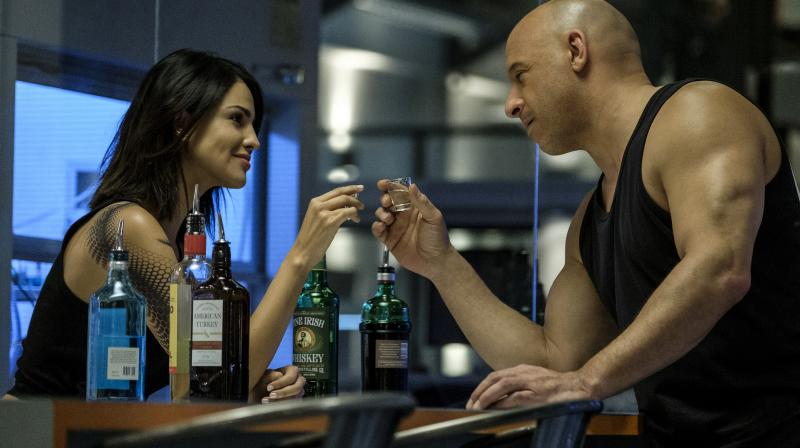 A screengrab from the movie 'Bloodshot', featuring Eiza Gonzalez (left) and Vin Diesel (AP/Coloumbia Pictures))