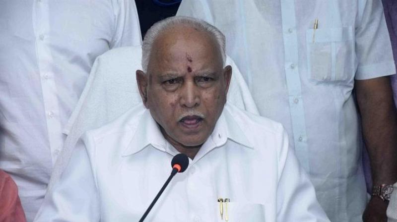Karnataka chief minister B S Yediyurappa.