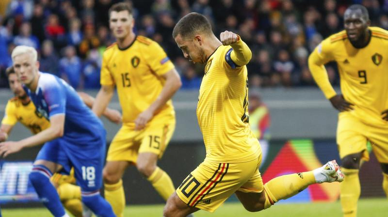 Courtois allowed Russia a soft equaliser after his error gifted a goal to Denis Cheryshev, but Belgium claimed a deserved victory when Youri Tielemans opened the scoring with his first international goal and Hazard added two more, one from the penalty spot. (Photo: AP)