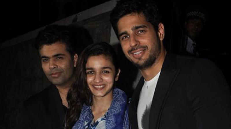 Alia and Sidharth have done several films with Karan.